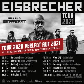 EISBRECHER NOVEMBER TOUR + VOLLE KRAFT VORAUS FESTIVAL 2020 WERDEN NACH 2021 VERSCHOBEN!